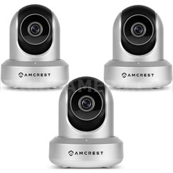 3-Pack HD 720P POE Wi-Fi IP Security Surveillance Camera System (Silver) IPM721S