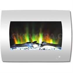 26  Color Changing Wall Mount Fireplace with Logs
