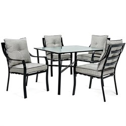 Lavallette 5-Piece Dining Set in Gray - LAVDN5PC-SLV