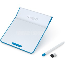 Bamboo Pad Wireless Touch-Pad with Digital Stylus - White/Blue (CTH300B)