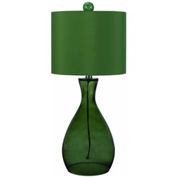 Mercer Hand-Blown Glass Table Lamp in Green - 8515-TL