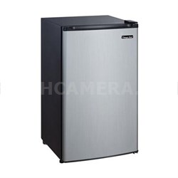 3.5 Cu. Ft. Compact Fridge with Freezer in Stainless Steel - MCBR350S2