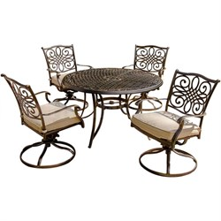 Traditions 5 Piece Swivel Rocker Outdoor Dining Set - TRADITIONS5PCSW