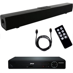 X3 Bluetooth Home Theater Sound Bar System w/ HD DVD Player and HDMI Cable