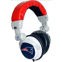 NFL Football Licensed New England Patriots DJ Style Headphones