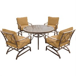 Summer Nights 5-Piece Dining Set in Tan - SUMRNGTDN5PCG