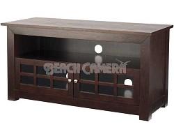 "BFV146 - Hardwood 3-Shelf A/V Cabinet for TVs up to 46"" (Chocolate Finish)"
