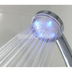 "Shower Massager with 59"" Metal Hose - Invigorating Spray with LED Lights!"