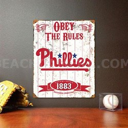 MLB Embossed Metal Vintage Pub Signs,Philadelphia Phillies