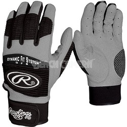 BGP950T Adult Workhorse 950 Series Batting Glove Black Large