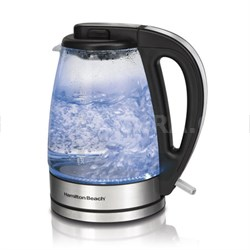40865 - Soft Blue Illuminated Glass Electric Kettle, 1.7-Liter