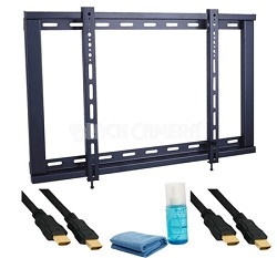 """5 Piece Slim Mounting Kit for 23""""-42"""" HDTV's 1 Bracket, 2 Cables, 1 Cleaner"""