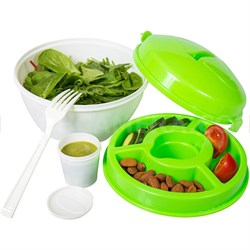 Salad-To-Go Travel Lunch Bowl Kit with Snap Lid SC10203