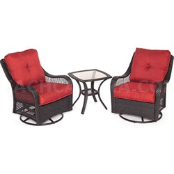 Orleans 3 Piece Swivel Rocking Chat Set in Autumn Berry - ORLEANS3PCSW-B-BRY