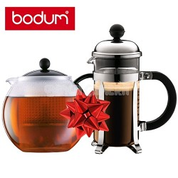 Bodum Chambord 12 oz. French Press Coffee Maker & Assam 34 oz. Tea Press