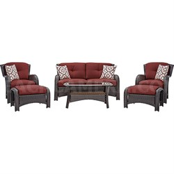 Strathmere 6-pc Deep Seating Set w/Cushions Coffee Table