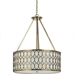 Large Cosmo Pendant in Satin Brass - 8218-5H