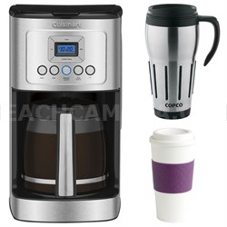 Perfect Temp 14-Cup Programmable Coffeemaker Stainless Steel w/ Copco Mug Bundle