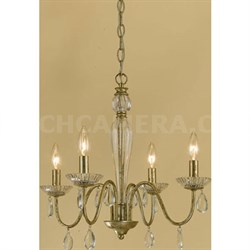 Elements Judy Mini Chandelier 4-60W Candle Bulbs 18 HX19 W Hardwire Option