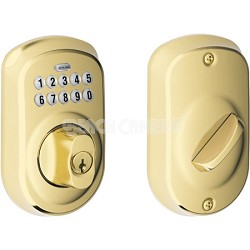 Plymouth Keypad Deadbolt (Lifetime Brass Finish)