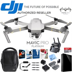 Mavic Pro Platinum Quadcopter Combo Pack + Professional Photo & Edit Bundle