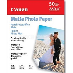 Matte Photo Paper, 8.5x11 in 50 Sheets - 7981A004