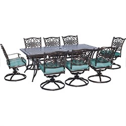 Traditions 9-Piece Dining Set in Ocean Blue - TRAD9PCSW8-BLU