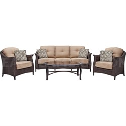 Gramercy 4-Piece Seating Set in Country Cork - GRAMERCY4PC