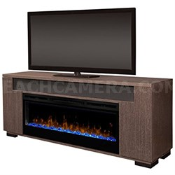 Electric Fireplace - Haley (with glass ember bed) Rift Grey