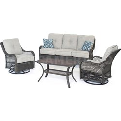 Orleans4pc Seating Set: 2 Swivel Rockers Sofa Coffee Table