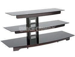 "BFAV550 - Waterfall design 3-Shelf A/V Stand for TVs up to 56"" (Chocolate)"