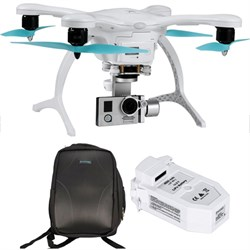 GhostDrone 2.0 Aerial Drone - White/Blue 1 Year Crash Coverage w/Pro Bundle