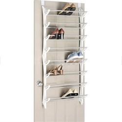 24-Pair Over The Door Shoe Rack in White - 6486-1754-WHT