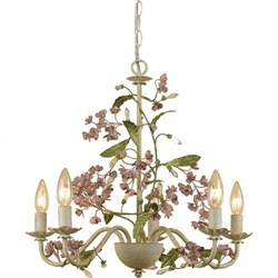 Elements Grace Chandelier 5-60W Candle Bulbs 18.5 HX20 W Hardwire or Swag