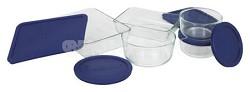 Storage 10-Piece Set, Clear with Blue Lids - OPEN BOX