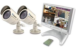 "Compact 8.4"" LCD Security Monitor Kit with 2 Cameras (SW2448ST)"