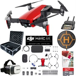Mavic Air Fly More Combo Flame Red Drone Pro Photo Edit Case VR Set Landing Pad