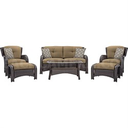Strathmere 6-Piece Seating Set in Country Cork - STRATHMERE6PCTAN