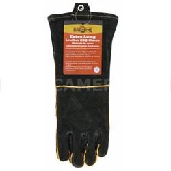 Long Leather BBQ Gloves 40113X