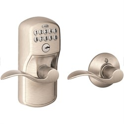 Keypad Lever - Accent Lever, Plymouth Trim, Satin Nickel FE575 Ply 619/Acc