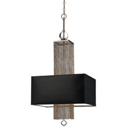 Casby Three Light Pendant- Black Shade - 8446-3H