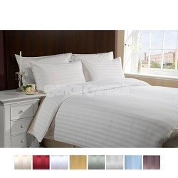 Luxury Sateen Ultra Soft 4 Piece Bed Sheet Set QUEEN-WHITE