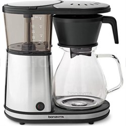 Glass BV1901GW 8-Cup Coffee Brewer w/ Hot Plate - Glass Carafe