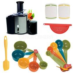 Platinum Stainless-Steel 2-Speed Whole-Fruit Juice Extractor Deluxe Bundle