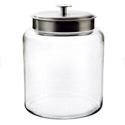 2-Gallon Jar with Brushed Aluminum Metal Cover - 91523