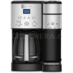 SS-15 12-Cup Coffee Maker and Single-Serve Brewer, Stainless Steel