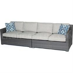 Metropolitan 2-Piece Sofa Set in Silver with Gray Weave - METRO2PC-G-SLV