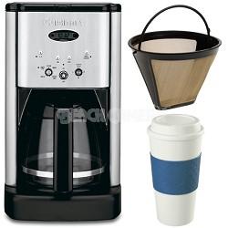 DCC-1200 Brew Central 12 Cup Coffeemaker Gold Tone Filter & 16 Oz. Mug Bundle