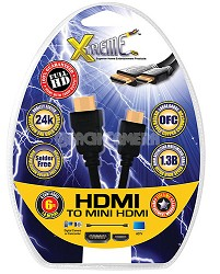 mini-HDMI to HDMI Audio/Video Cable (6 Feet) - View Images & Video on your TV