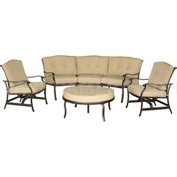 Traditions 4pc Seating Set: 1 Crescent Sofa; 1 Ottoman; 2 Cushion Chairs